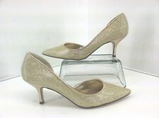 Nina  Brydie Platino Gold  Heel Dress Shoes  Women's size 7 M