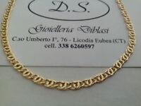 -Gold halskette 18 karat gold 750% ITALY-