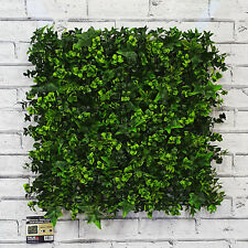 Artificial Green Living Wall Hedge Plant Panel Tile In Outdoor UV Stable 50x50cm