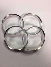 4 X ALUMINIUM METAL SPIGOT RINGS 66.1 - 56.1 HUB CENTRIC SPACER RINGS