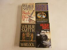 4 WILBUR SMITH BIRDS PREY RIVER GOD WARLOCK WHEN THE LION FEEDS PAPERBACK