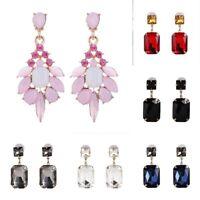 Tassel Dangle Earrings Elegant Drop Crystal Jewelry Women Ear Rhinestone Stud