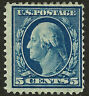 US #335  Mint-OG ~ 1908 Blue 5c Perf 12 Double-Line Watermarked ~ Ht