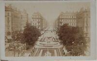 Lione Place Imperiale Francia Carte de visite CDV Foto Vintage Albumina