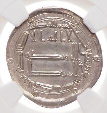 ISLAMIC, Abbasid. al-Rashid. AH 170-193. AR Dirham, NGC Unc Details