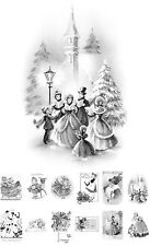 """Adult Grayscale Coloring Book (24 cards 4.5""""x6.5"""") Christmas Gift Kids FLONZ511"""