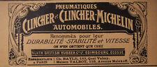 PUBLICITÉ DE PRESSE 1903 PNEUMATIQUE CLINCHER MICHELIN AUTOMOBILES - ADVERTISING