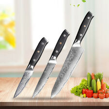 "Damascus Chef's Knife Set 8"" 5"" 3.5"" Japanese VG10 Steel Razor Sharp Pro Kitchen"