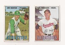 New listing 2 1967 Star cards- Jim Hunter and Gil Hodges