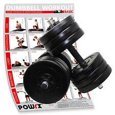 Kurzhantel 2er Set inkl. Workout I 30 kg Set I Stange mit Sternverschlüssen