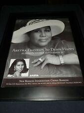 Aretha Franklin So Damn Happy Rare Original Promo Poster Ad Framed!