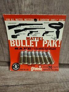 Vintage Mattel Greenie Bullet 8 Pack Play Bullets Greenie Ammo Vintage Toy