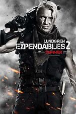 THE EXPENDABLES 2 - Movie Poster - Flyer - 13.5x20 - DOLPH LUNDGREN