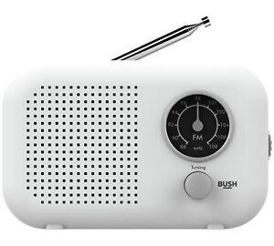 Bush Portable FM Radio - White 8587446 R