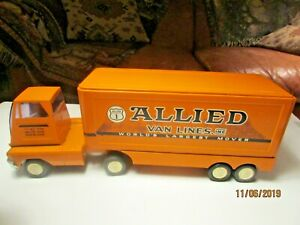 Vintage TONKA Allied Van Lines Pressed Steel Semi Truck & Trailer U.S.A MADE!
