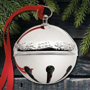 2021 Wallace Sleigh Bell 51st Edition Silverplate Ornament NIB
