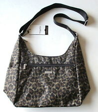 NWT BAGGALLINI Cargo Hobo Crossbody Shoulder Bagg Brown Cheetah Bag MRG880B $85