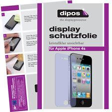 4x Apple iPhone 4  / 4S Schutzfolie klar Displayschutzfolie Folie unsichtbar