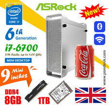 Intel i7-6700 4GHz WiFi HD 530 ASRock Mini PC Desktop 8GB RAM 1TB HDD Gaming PC