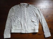 THE KOOPLES CREAM  LACE BOMBER JACKET, 6-8