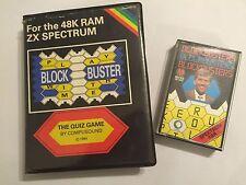 2 Sinclair ZX Spectrum Cassette cinta Bloque De Juego-Buster Original + éxitos de taquilla