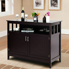 New ListingModern Kitchen Storage Cabinet Buffet Server Table Sideboard Dining Wood Brown