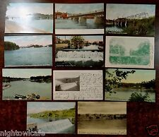 Lot of 11 Antique Postcards All Merrimac River Haverhill Massachusetts Ma