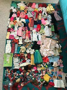 Vintage Barbie EXTREMELY HUGE CLOTHES SHOES & ACCESSORIES LOT *TLC/REPAIR/PARTS*