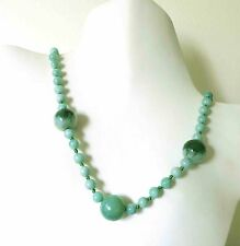 COOL RARE ANTIQUE VINTAGE DECO CHINESE JADEITE JADE BEADS TO 18mm  NECKLACE 29""