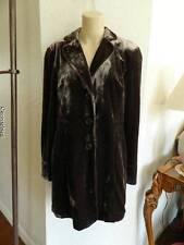 Coldwater Creek dark brown victorian silk velvet jacket size 10