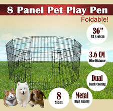 "36"" Panel Pet Playpen Dog Cat Puppy Rabbit Fencing Exercise Barrier Enclosure bn"