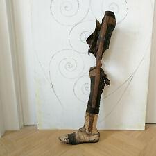 Großartige antike BEINPROTHESE Unterschenkelprothese Frankreich 1890 shabby RAR