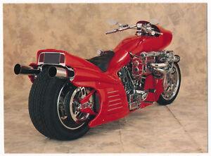 "Arlen Ness Customized ""Ferrari Bike"" - Harley-Davidson Postcard"