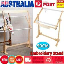 Cross Stitch Needlework Stand Lap Table Wood Embroidery Hoop Frame Sewing Rack #