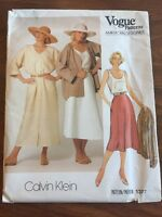 Vogue American Designer Sewing Pattern 1377 Calvin Klein UNCUT Jacket Dress Sz 1