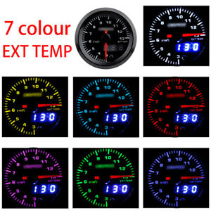 "2"" 52mm Car SUV Exhaust Gas Temp Gauge EGT Temperature Meter Digital LED +Sensor"