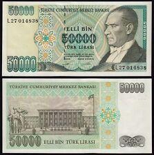 Türkei - Turkey 50000 Lira Banknote 1970 (1989) Pick 203 UNC ATATÜRK (15784