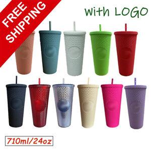 2021 New Starbucks Tumbler Bling Diamond Studded Straw Cold Cup NEW,710ml/24oz
