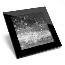 Glass Coaster BW - Stunning Water Droplets Art  #39535