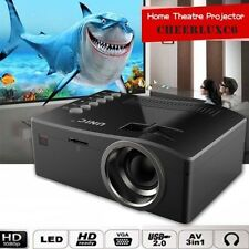 Full HD 1080P Home Theater LED Multimedia Projector Cinema TV HDMI Black EU FTF