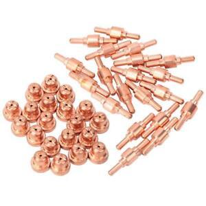40Pcs Plasma Cutter Consumables Electrode Nozzle Tip for PT31 LGK40 Plasma Torch