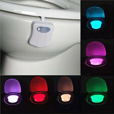 1Pc LED Toilet Nightlight Battery-operated Motion Activated Light Sensitive Lamp