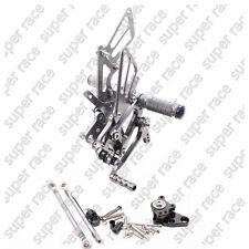 Adjustable CNC Rearsets Rear Sets Foot Pegs For Honda CBR600RR 2003-2006 05 Gray