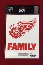 Detroit Red Wings Family Team Pride Logo Decal - Truck Car Window Cling NEW NHL