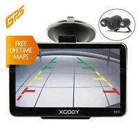 XGODY 560 5'' Coche GPS Navegador Mapas Bluetooth Entrada USB Retrovisor Cámara