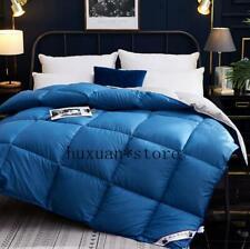 Fluffy Comfort 100% Goose Down Duvet Quilted Quilt King Queen Full Sz Comforter