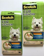 (2) 8 Packs Scotch Fur Fighter Hair Remover Upholstery Refill Sheets..16 total