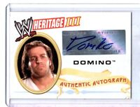 WWE Domino 2007 Topps Heritage III Authentic Autograph Card