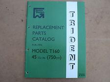 TRIUMPH T160 TRIDENT PARTS BOOK