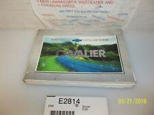 2001 CHEVROLET CAVALIER OWNERS MANUAL OEM